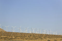 Desert Wind Energy Stock Photos