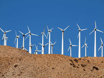 Desert Wind Farm Stock Photos