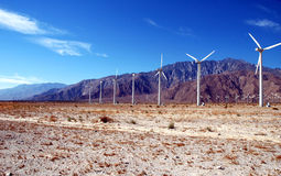 Desert Wind Farm Stock Photo