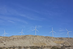 Desert Wind Turbines Royalty Free Stock Images