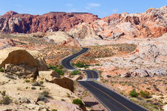 Desert Winding Road Royalty Free Stock Image