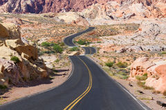 Desert Winding Road Royalty Free Stock Image