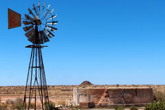 Desert Windmill on a hot day Stock Photos
