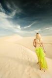 Desert woman Stock Photo
