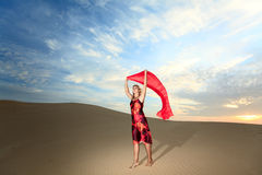Desert woman Royalty Free Stock Image