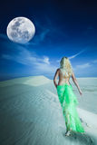 Desert woman Royalty Free Stock Image