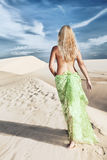 Desert woman Royalty Free Stock Photo