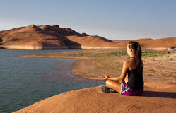 Desert Yoga Stock Photography