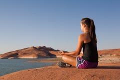 Desert Yoga Royalty Free Stock Photo