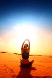 Desert yoga Stock Image