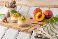 Desert with yogurt and passion fruit Royalty Free Stock Photo