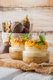 Desert with yogurt and passion fruit Stock Photos