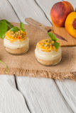 Desert with yogurt and passion fruit Royalty Free Stock Image