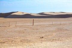 Deserted area in Sahara desert Royalty Free Stock Photos