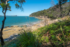 Deserted Australian beach Stock Image