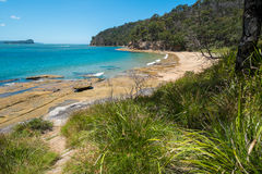 Deserted Australian beach Royalty Free Stock Photo