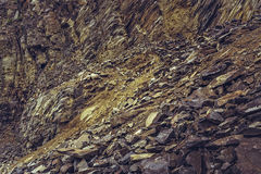 Deserted basalt quarry Royalty Free Stock Photo