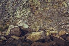 Deserted basalt quarry Royalty Free Stock Images