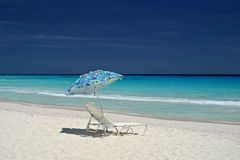 Deserted beach. A deserted beach in Barbados Stock Photography