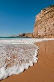 Deserted beach. In Portugal outside season stock photo