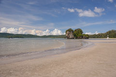Deserted beach on the Andaman Sea Royalty Free Stock Photography