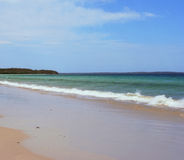 Deserted Beach, Australia. Deserted Callala Beach at Jervis Bay, Australia Stock Photos