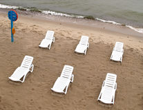 Deserted beach on the bank of the Baltic Sea stock image