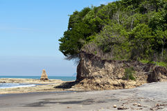 Deserted beach in a bay in Ecuador Stock Image