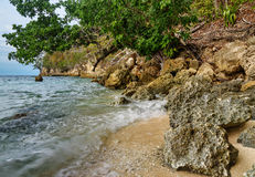 Deserted beach on Bolilanga Island Stock Images