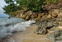 Deserted beach on Bolilanga Island Royalty Free Stock Image
