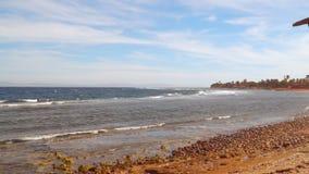 Deserted beach. Dahab Egypt stock video
