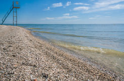 Deserted beach in the early morning Royalty Free Stock Images