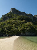 Deserted beach in the gulf of thailand. Idealic beach bay in the gulf of thailand Royalty Free Stock Image