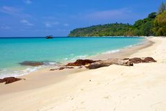 Deserted beach of the island of Thailand Royalty Free Stock Photography