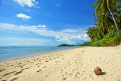 Deserted beach of the island of Thailand Stock Photography