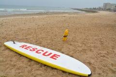 Deserted Beach - Lifesaving Equipment Royalty Free Stock Photo