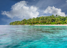 Deserted beach in the Maldives Stock Image