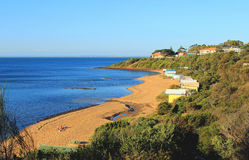 Deserted beach near Melbourne stock photos