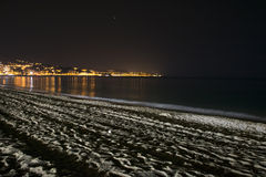 Deserted Beach at Night Stock Image