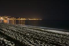 Deserted Beach at Night Stock Image