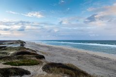 Cape Cod in November. Deserted beach and parking lot, Cape Cod, Massachusetts stock images
