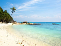 Deserted Beach at Perhentian Island, Malaysia Royalty Free Stock Photos