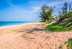 A deserted beach in Phuket, Thailand. During April Royalty Free Stock Images
