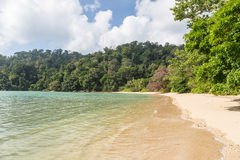 Deserted beach on Pulau Tioman, Malaysia Stock Photography
