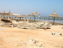 Deserted beach.Red sea Royalty Free Stock Photo