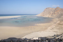 Deserted beach. Socotra island Royalty Free Stock Image