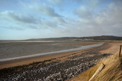 A deserted beach in Wales Royalty Free Stock Photo