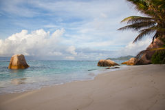 Deserted beautiful tropical beach Stock Photography