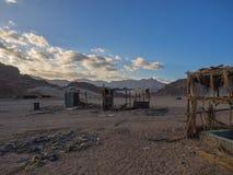 Deserted beduin homes in the Sinai desert. Egypt stock photography