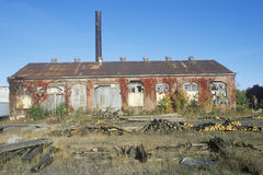 Deserted brick factory Royalty Free Stock Image